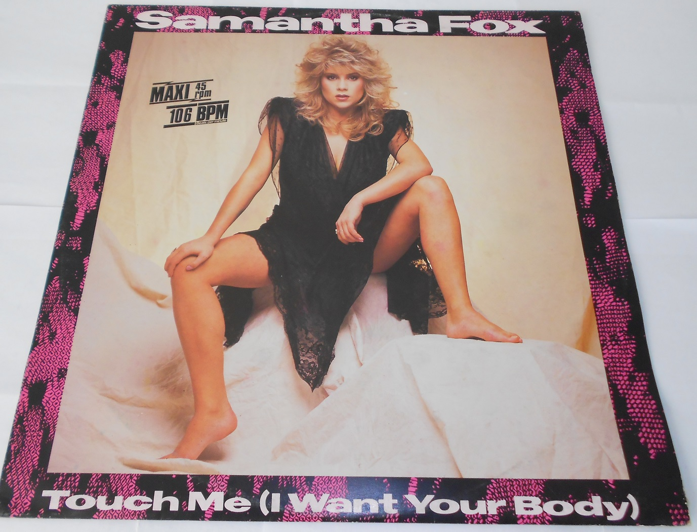 Samantha Fox ‎– Touch Me (I Want Your Body) 12""