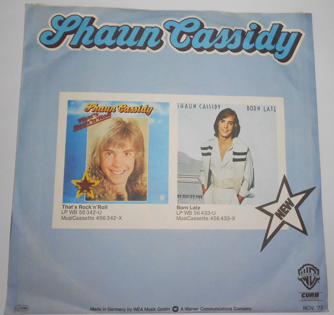 "Shaun Cassidy - Hey Deanie (7"",Single)"