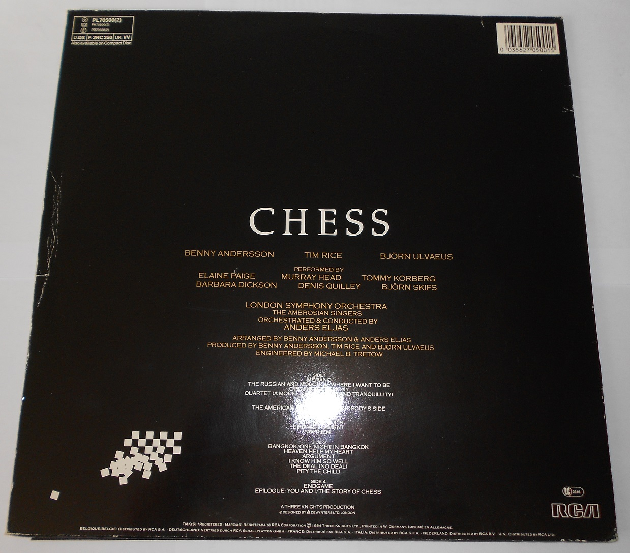 Benny Andersson, Tim Rice, Björn Ulvaeus - Chess (LP)