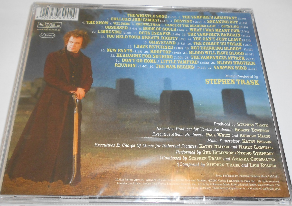 Stephen Trask - The Vampire's Assistant (Original Motion Picture Soundtrack) (CD)