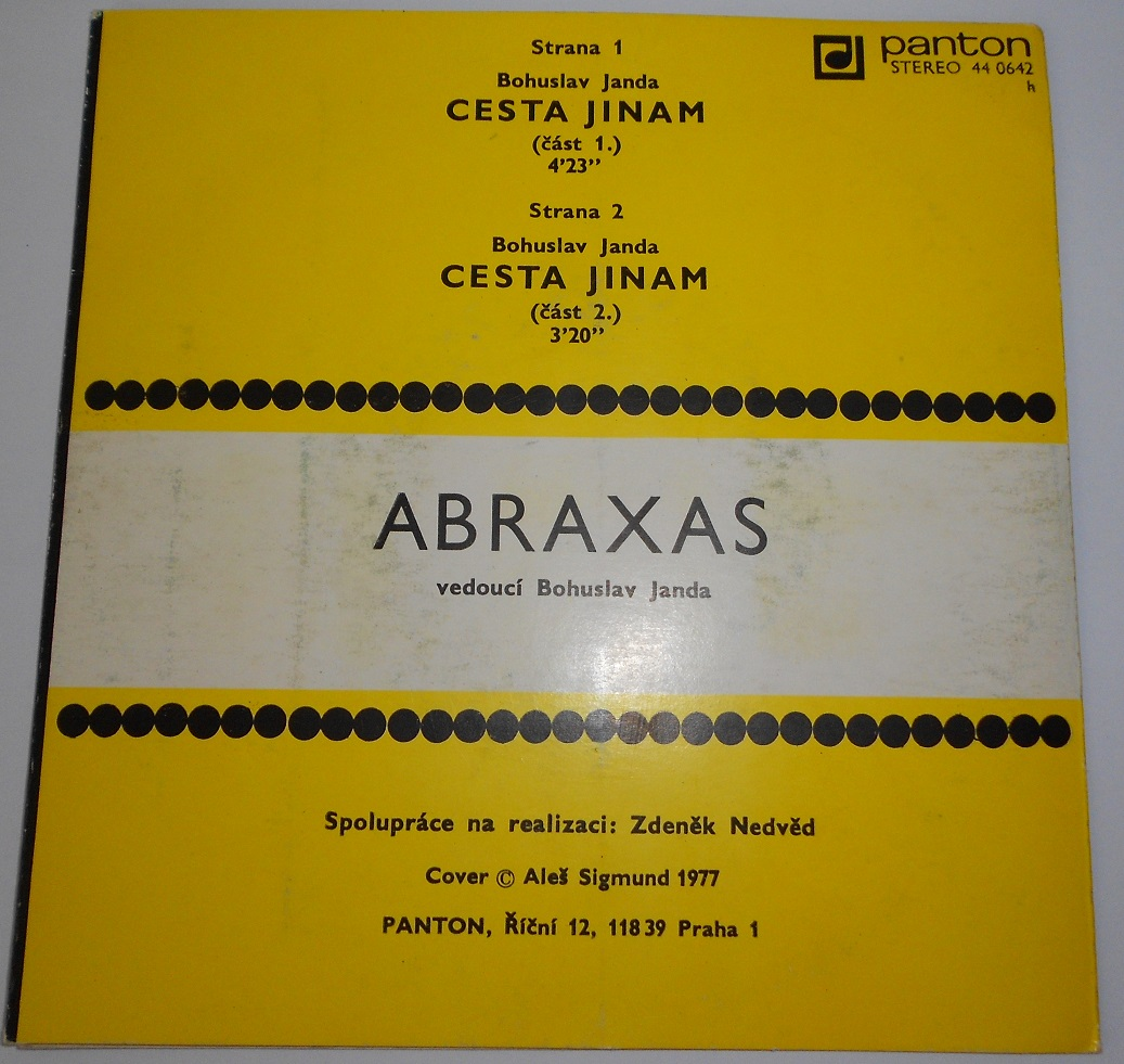 "Abraxas - Cesta Jinam (7"",Single)"