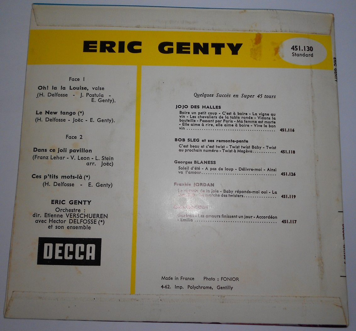 "Eric Genty - Oh! La La Louise (7"",Single)"