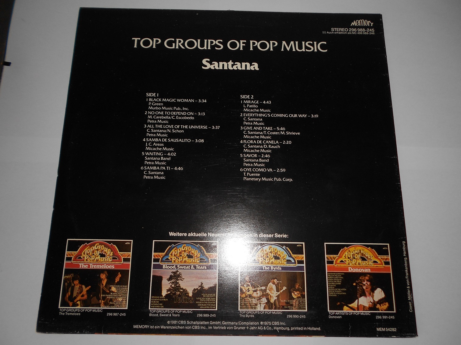 Santana - Top Groups Of Pop Music
