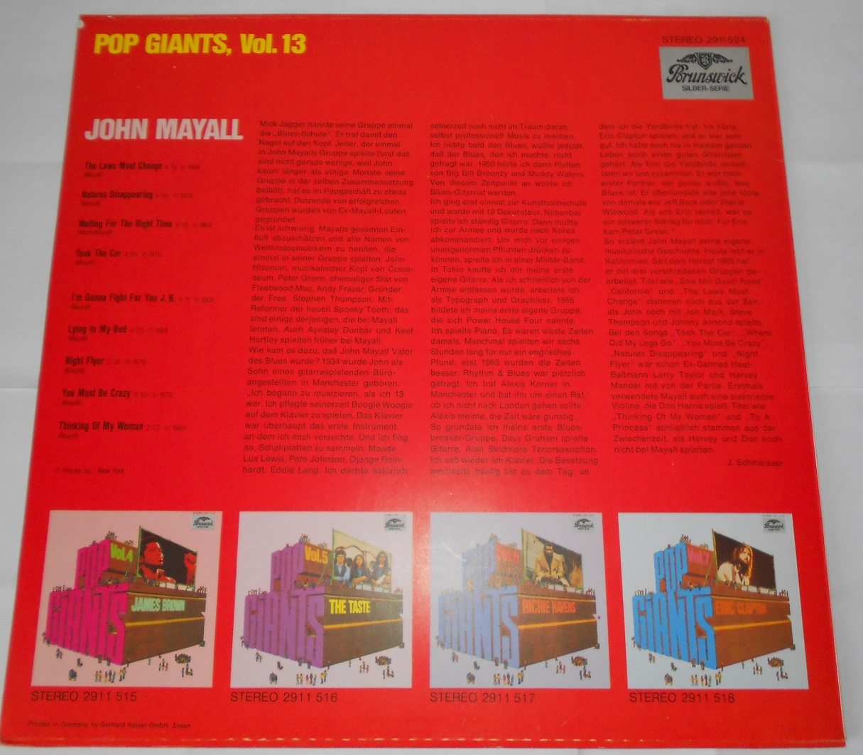 John Mayall & The Bluesbreakers ‎– Pop Giants, Vol. 13