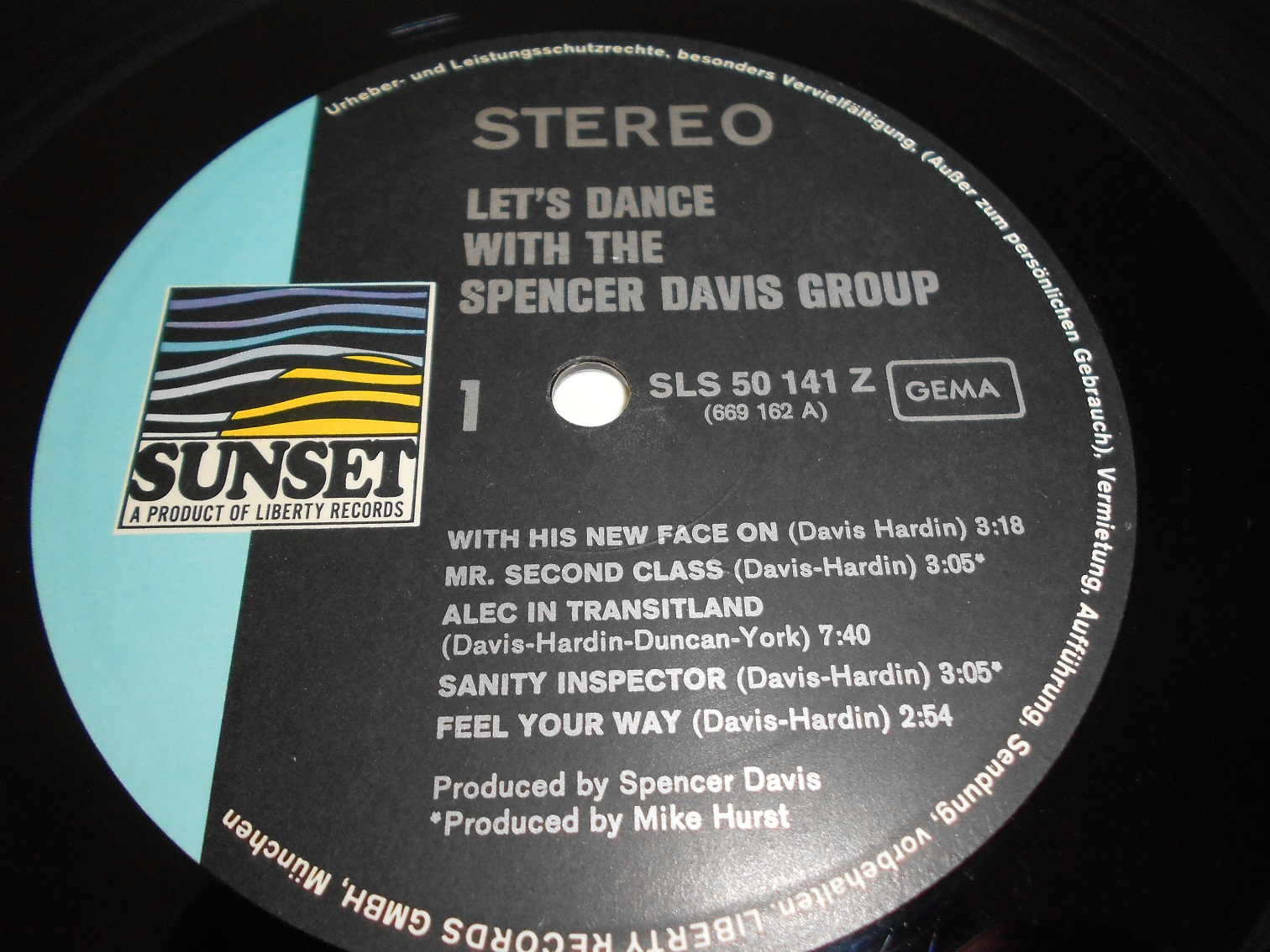 The Spencer Davis Group With Hardin & York ‎– Let's Dance With The Spencer Davis Group