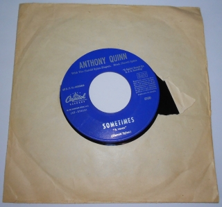 "Anthony Quinn Whit The Harold Spina Singers - I Love You, You Love Me / Sometimes (7"",Single)"